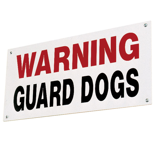 Stubbs Guard Dog Sign