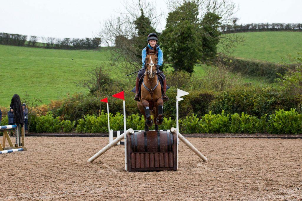 Training-a-horse-to-jump-arrowheads