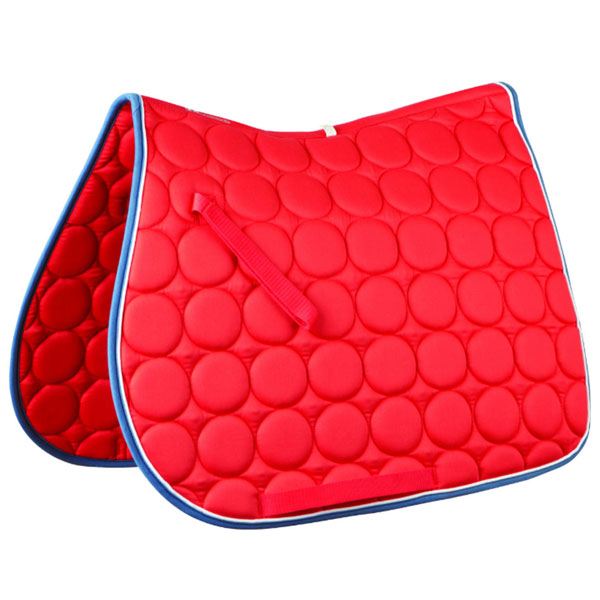 Roma-Circle-Quilt-All-Purpose-Saddle-Pad-red