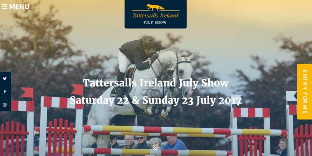 Tattersalls July Show Website