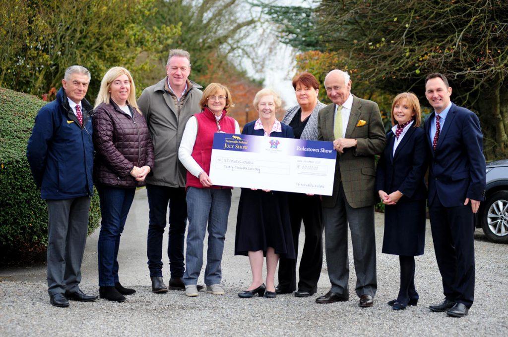 Tattersalls donation cheque